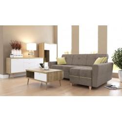 Nábytok Primo VII + Rohová sedacia súprava Grey