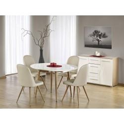 Zostava rozkladací stôl Edward + 4 stoličky K214