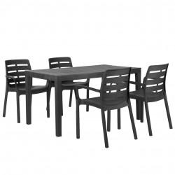 Záhradný set Stôl Sumatra + 4 Stoličky Borneo