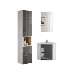 Rohový kúpeľňový nábytok Finka I